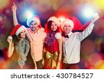 cheerful young people... | Shutterstock . vector #430784527