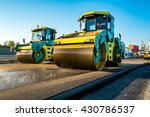 large view on the road rollers... | Shutterstock . vector #430786537