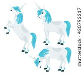 a unicorn with a blue mane.... | Shutterstock .eps vector #430793317