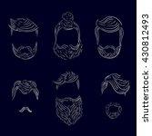types of men's hairstyles   Shutterstock . vector #430812493