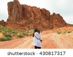 female tourist taking photos in ... | Shutterstock . vector #430817317