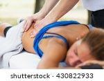 sports massage  focus on hands | Shutterstock . vector #430822933