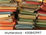 stacked office files  pile of... | Shutterstock . vector #430842997