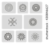 set of monochrome icons with... | Shutterstock .eps vector #430846627