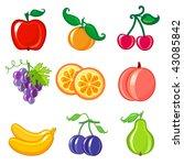 fruits | Shutterstock .eps vector #43085842