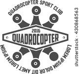 quadrocopter retro logo vector   Shutterstock .eps vector #430868563