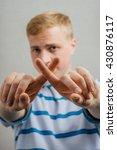 man showing stop | Shutterstock . vector #430876117