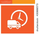 fast delivery icon silhouette...   Shutterstock .eps vector #430888573