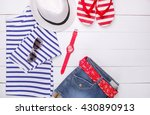fashionable women's clothes on... | Shutterstock . vector #430890913
