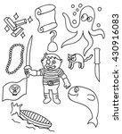 children pirate doodle vector... | Shutterstock .eps vector #430916083