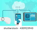 concept of connected health and ... | Shutterstock .eps vector #430923943