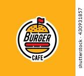 burger logo sticker emblem   Shutterstock .eps vector #430931857