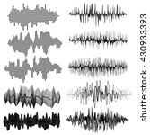sound waves. musical sound... | Shutterstock .eps vector #430933393