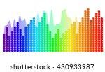 Color Sound Waves. Audio Wave...