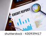 """credit report"" text on paper... 