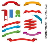 set of different bright ribbons ... | Shutterstock .eps vector #430953463
