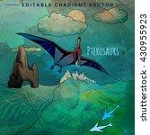 dinosaur in the habitat. vector ... | Shutterstock .eps vector #430955923