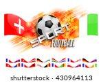 design football orange... | Shutterstock .eps vector #430964113