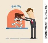credit. businessman returns a... | Shutterstock .eps vector #430969507