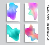 fluid colors backgrounds set.... | Shutterstock .eps vector #430978957