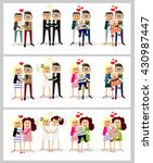 different families with children | Shutterstock .eps vector #430987447