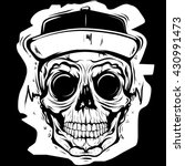 skull face   Shutterstock .eps vector #430991473