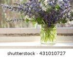 bunch of blue sage flowers in...   Shutterstock . vector #431010727