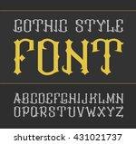 vector vintage label font.... | Shutterstock .eps vector #431021737