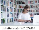 female student study in school...   Shutterstock . vector #431027833