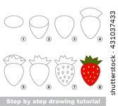drawing tutorial for children.... | Shutterstock .eps vector #431037433
