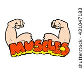 freehand drawn cartoon muscles... | Shutterstock .eps vector #431047183