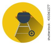 icon of barbecue. flat design....
