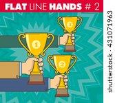 vector hand style flat line... | Shutterstock .eps vector #431071963