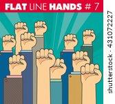 vector hand style flat line... | Shutterstock .eps vector #431072227