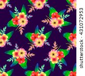 seamless pattern of tropical... | Shutterstock .eps vector #431072953