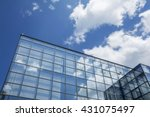 Building Facade With Blue Sky...