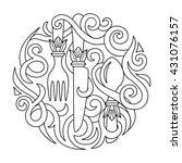 logo for menu italian... | Shutterstock .eps vector #431076157