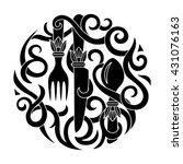 logo for menu italian... | Shutterstock .eps vector #431076163
