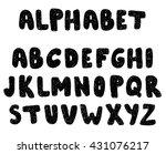 hand drawn ink alphabet. doodle ...   Shutterstock .eps vector #431076217