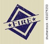 fire rubber grunge seal | Shutterstock .eps vector #431079253