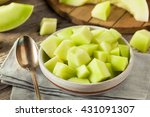 Green Organic Honeydew Melon...
