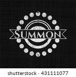 summon chalk emblem written on... | Shutterstock .eps vector #431111077