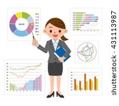 graph of business image and... | Shutterstock .eps vector #431113987