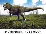3d Rendering Of Tyrannosaurus...