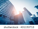 modern skyscrapers in central | Shutterstock . vector #431153713