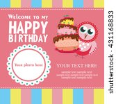 happy birthday card design.... | Shutterstock .eps vector #431168833