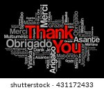thank you word cloud concept... | Shutterstock .eps vector #431172433