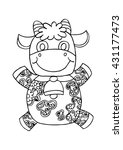 decorative cow. | Shutterstock .eps vector #431177473