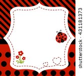 Greeting Card With Ladybug....