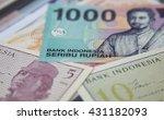 rupiah  the bank note of... | Shutterstock . vector #431182093